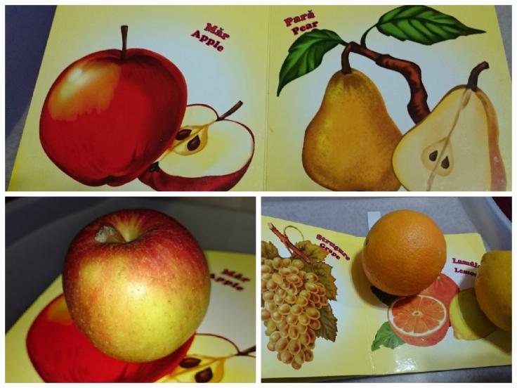 activitate de recunoastere fructe